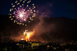Lighting up the sky over the Beaver Creek Village